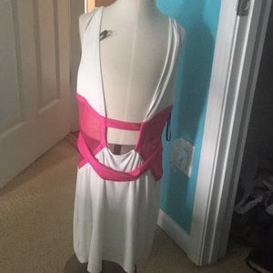 Bebe pink and white dress